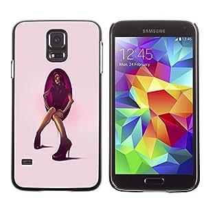 EJOY---Cubierta de la caja de protección la piel dura para el / Samsung Galaxy S5 / --Tacón de aguja mujer