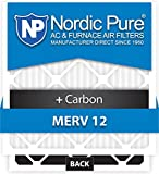 12x26x1 MERV 12 Plus Carbon AC Furnace Filters Qty 6