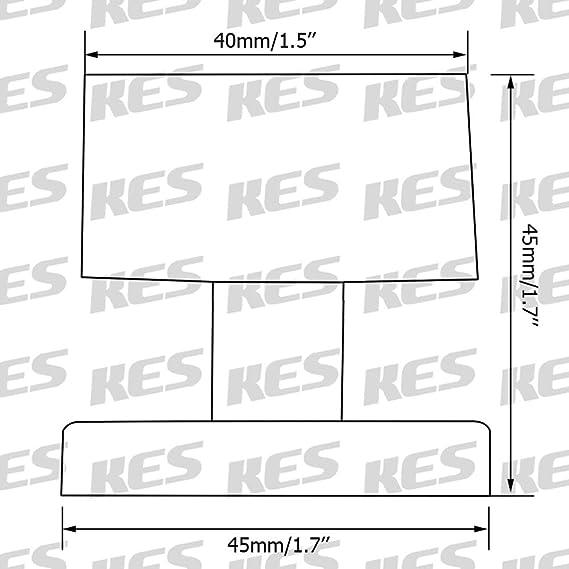 KES Arr/êts de Porte S/écurit/é Butoirs Metal de Porte avec Son L/'Amortissement Caoutchouc Pare-chocs SUS 304 Acier Inoxydable Nickel Bross/é HDS209-2