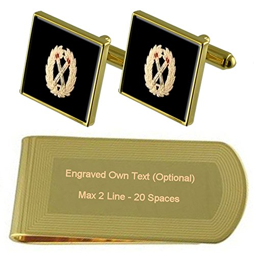 Assistant Clip Chief Constable Set tone Gift Money Cufflinks Gold Police Engraved aAdUwqxTU5