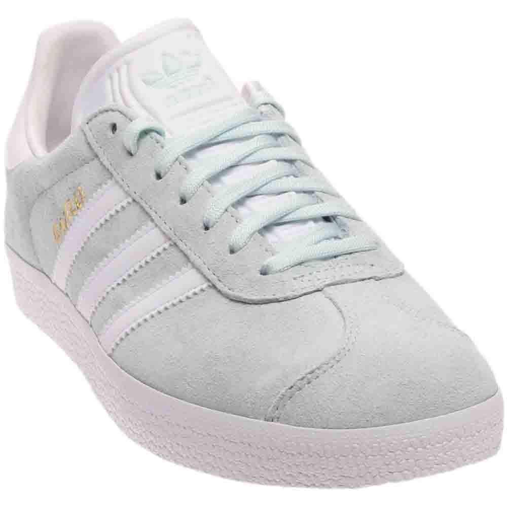 adidas Originals Women's Shoes | Gazelle Sneakers, Ice MintWhiteMetallic Gold, ((11 M US)