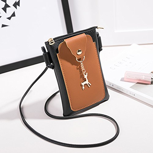 Zipper Bag Shoulder Bag Woman Grey Phone Portable for Girl Make Daliuing Wallet Headset Up Cross Pink Small Durable znYBSzxwR