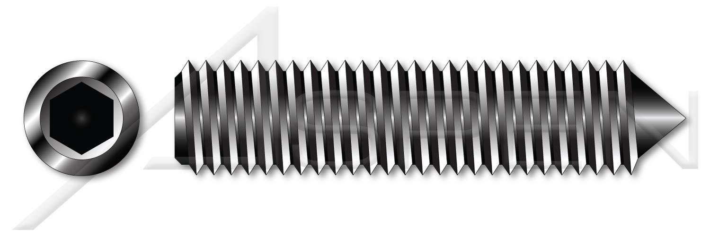 UNC Coarse Thread Made in U.S.A. Cone Point #8-32 X 1//4 Hex Socket Set Screws Alloy Steel 100 pcs