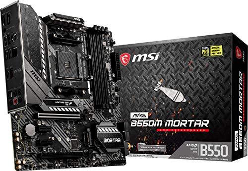 MSI MAG B550M MORTAR – Placa Base Arsenal Gaming (AMD AM4 DDR4 M.2 USB 3.2 Gen 2 HDMI MICRO ATX), AMD Ryzen 5000 Series…