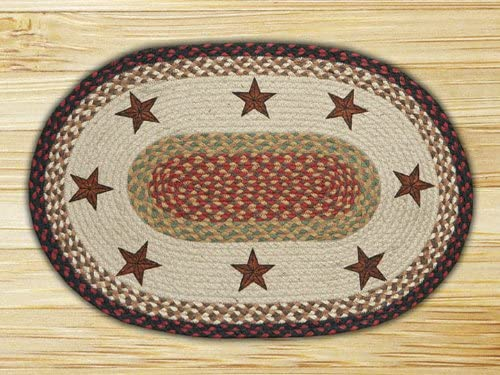 Earth Rugs Rug, 20 x 30 , Burgundy Mustard
