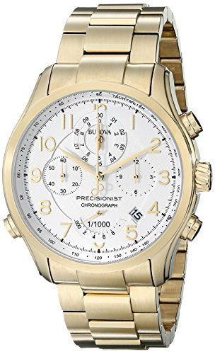 Watch Quartz Gold 14k - Bulova Men's 97B139 Analog Display Analog Quartz Gold Watch