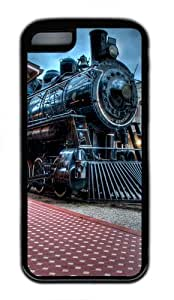 Train Railway TPU Silicone Case Cover for iPhone 5C Black