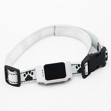 BHAIR5 Collar GPS antipérdida para Mascotas, D35 Mini Impermeable para localizador de Mascotas, Monitor Inteligente para Perro y Gato, Blanco, Tamaño Libre: ...
