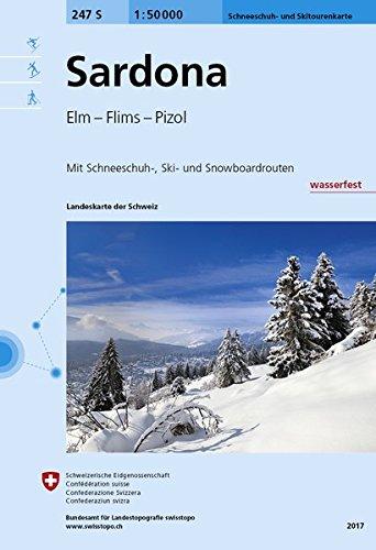 Sardona Skirouten 1:50'000 Landkarte – Folded Map, 1. Dezember 2017 swisstopo 3302202474 Karten / Stadtpläne / Europa TRAVEL / Europe / Switzerland