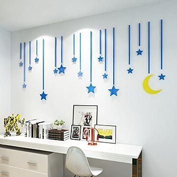Litie Acryl Spiegel 3d Stereo Wall Poster Der Sterne Regen