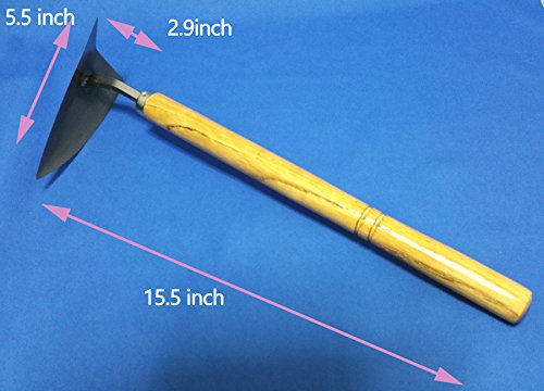UMTECH Japanese Garden Landscaping Triangle Hoe With Stainless Steel Blade & Wood Handle by UMTECH (Image #2)
