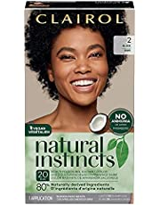 Clairol Natural Instincts Semi-Permanent Hair Dye, 2 Black Hair Color, 1 Count