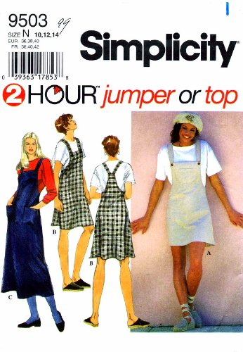ba3d29f2257a Amazon.com  Simplicity 9503 Sewing Pattern Womens 2 Hour Jumper Top ...