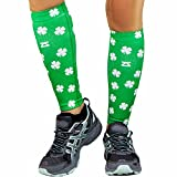 Zensah Shamrock Compression Leg Sleeves - Green - XS/S