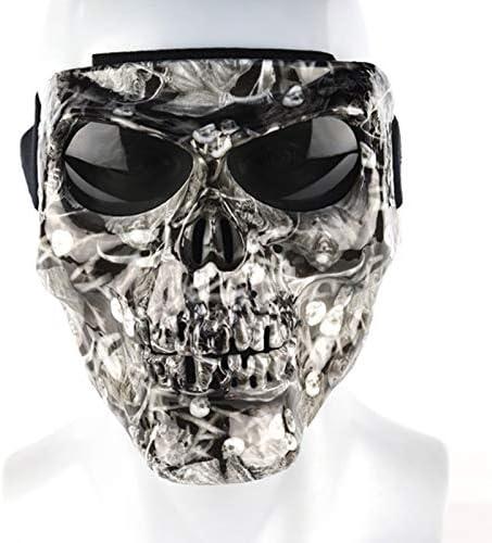 Yopria Maschera polarizzata Maschera Protettiva per Moto Equitazione Sci Maschera per Sport allAria Aperta Maschera Maschera Teschio Halloween Natale Pasqua YR20505