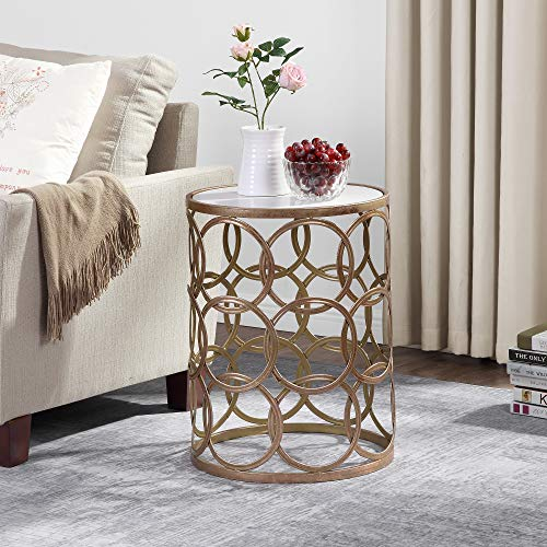 FirsTime & Co. Gilded Circles Occasional Table, 22