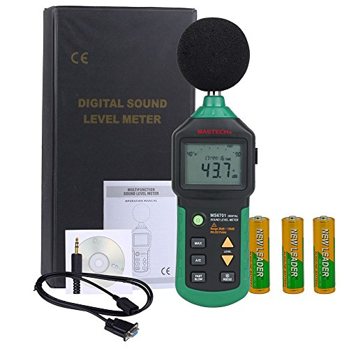 Olymstore Schallpegel Lärm Messgerät Schallpegelmesser 30 -130 dB und USB