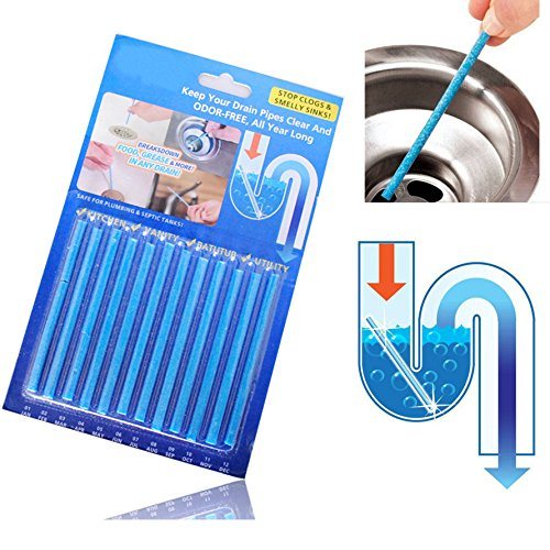 Janitorial & Sanitation Supplies - Honana Bc-101 Sink Deodorant Stick Pcs Set Magic Clean Sewer Deodorant Bathroom Clean - Cling Drop Adhere Bury Stay Cesspool Nightstick Settle Bind (Sewer Bond)