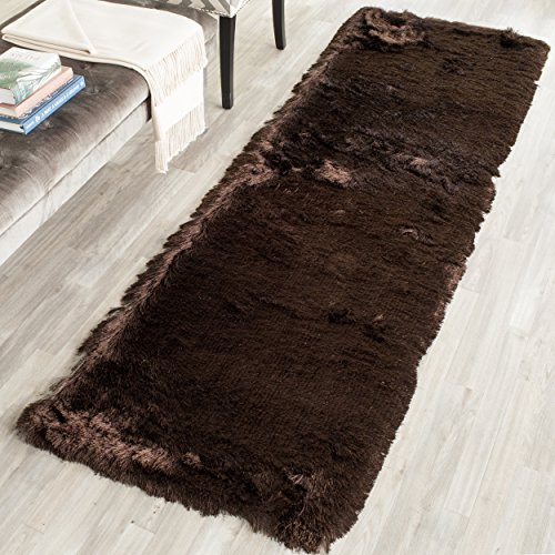 Chocolate Bedroom Collection (Safavieh Paris Shag Collection SG511-2727 Chocolate Polyester Runner (2'3