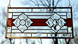 11'' x 22'' Tiffany Style stained glass Clear Beveled window panel