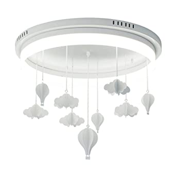 VinDeng Infantil Decoración LED Lámpara de techo, 37W Blanco ...