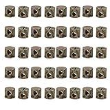uxcell 40pcs M6 Thread 14mmx15mm Zinc Plated Iron Phillips Drive Cross Dowel Barrel Nut