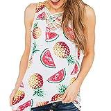Hotkey Womens Tops Summer Fashion Women Summer Vest Sleeveless V-Neck Casual Tank Tops T-Shirt