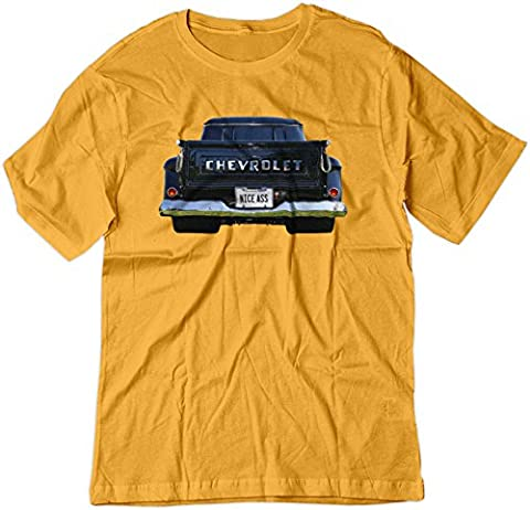 BSW Men's Nice Ass 1957 Chevrolet Task Force V8 Truck Shirt LRG Gold - Pictures 1955 Chevy