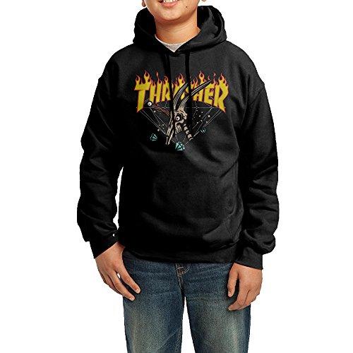 QQLIAN Kids/Youth Hoodie Sweatshirts Thrasher Flame Magazine Logo]()