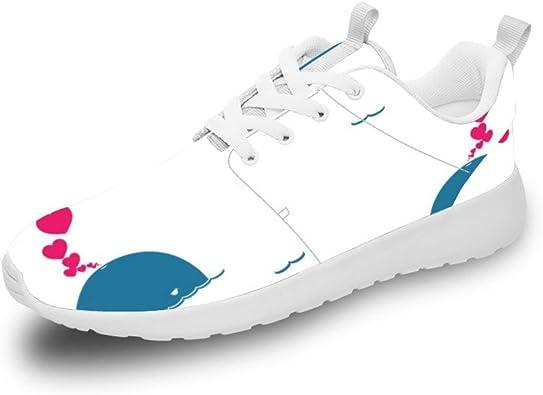 Mesllings Zapatillas de Correr Unisex con diseño de delfín de Dibujos Animados y Amor, Zapatos Deportivos Ligeros para Exteriores: Amazon.es: Zapatos y complementos