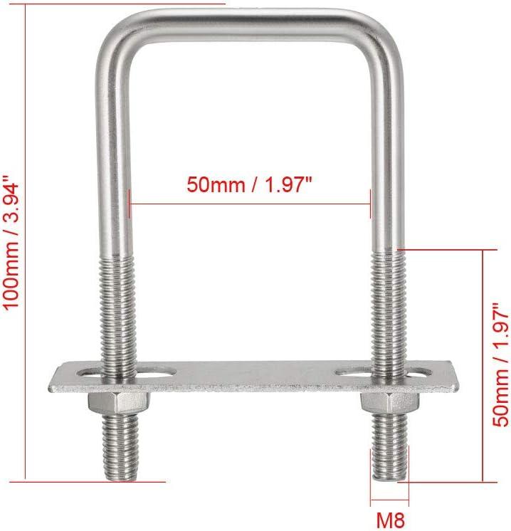 2 tuercas de acoplamiento M8 x 50 mm de largo x 13 mm hexagonales de acero inoxidable y de tuerca larga ABBOTT