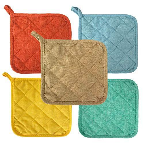 Lobyn Value Packs Potholders 10 Each Seashore Multi Beach Themed Colors