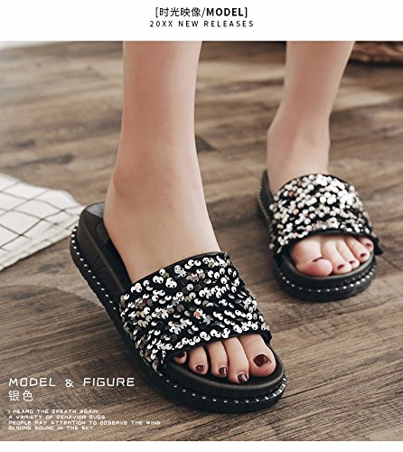 por mujeres verano XIAOGEGE son moda usadas zapatillas en blanco nuevas de 6azcWrZ4z