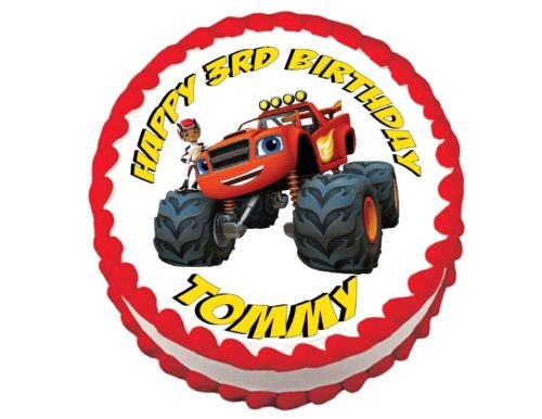 BLAZE AND THE MONSTER MACHINES cake and cupcake edible toppers frosting - Images Blaze