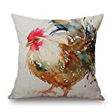 alphadecor chicken pillow covers 20 x 20 inches / 50 by 50 cm gift or decor for bar seat,son,wedding,dining room,teens,monther - 2 sides