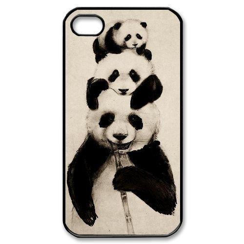 super cute 7f48a 6b31d Amazon.com: Panda Cell Phone Case for Iphone 4,4S,diy Panda cell ...