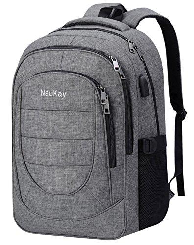 Travel Outdoor Computer Backpack Laptop bag(Grey) - 3