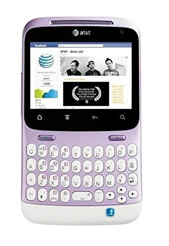 HTC Status ChaCha A810a Unlocked Phone with QWERTY Keyboard, 5MP Camera, Wi-Fi and GPS - US Warranty - Mauve/White