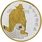 Alaska Mint Gold Panner Medallion Nugget .999 Silver 1 oz