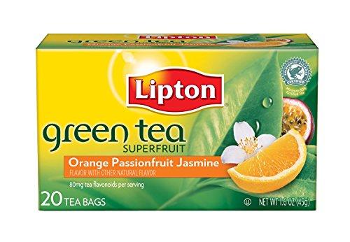 Lipton Green Tea Bags, Orange, Passionfruit & Jasmine, 20 ct, 4 pk ()