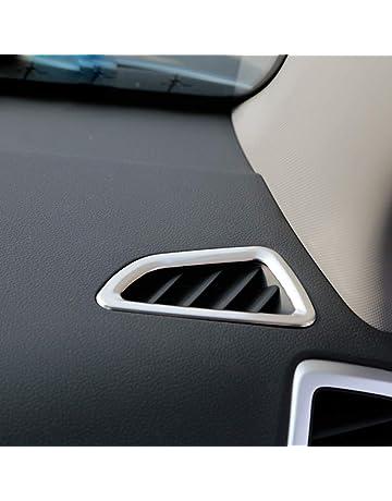 Interior del coche Aire acondicionado Salida Cubierta de ventilación Trim ABS mate, 2 piezas /