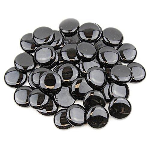 black glass gems - 3