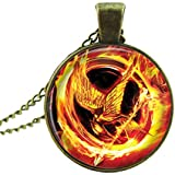 Afoxsos The Hunger Games Vintage Mockingjay Pendant Necklace Sweater Chain Arrow