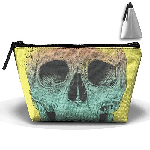 Pop Art Skull Zipper Closure Pouch Travel Multi-functional Cosmetic Bags