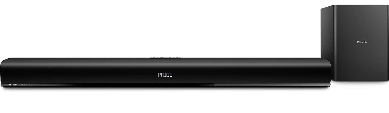 TALLA 80 vatios. Philips HTL1193B/98 Inalámbrico y alámbrico 2.1channels 80W Negro Altavoz soundbar - Barra de Sonido (2.1 Canales, 80 W, Dolby Digital, 30 W, 4 Ω, 5,08 cm (2