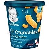 Gerber Graduates Lil Crunchies Snack Cups, Mild Cheddar , 8 Count