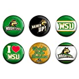 WinCraft NCAA Wright State WCR95624012 Round Button (6 Pack), 2''
