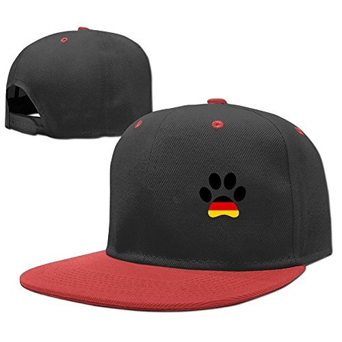 YELOFISH Kids' Hip Hop Baseball Caps German Flag Paw Print Snapback Hats