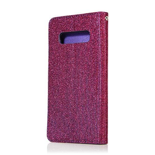 Cartes Brillante Fentes S10 Housse À De Luxe Samsung Portefeuille Miagon Matériel Éclat Coque Avec Textile Support Violet S10 Pour Galaxy Rabat En Cuir Fonction ntq7aPwaYz