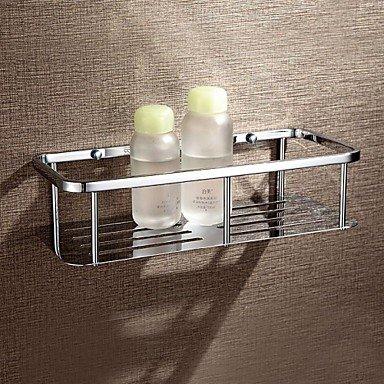 MEI Bathroom Shelf Chrome Wall Mounted 30137.8cm(11.85.13 inch) Brass Contemporary by MEI